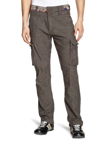 Desigual Nabi Slim Men's Cargo Trousers Brown W30INxL33IN