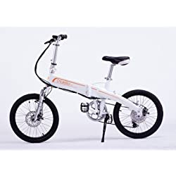 Uebiky , Latest Folding Electric Bicycle,invisible Power Professional Sports, 7 Speed Folding Electric Bicycle, 20-inch Bike/one Size