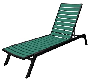 Euro chaise lounge black aluminum frame for Aluminum frame chaise lounge