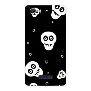 Delighted Skull Star Back Case Cover for Micromax Unite 3