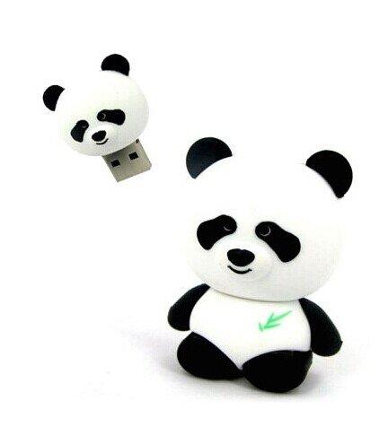 ELEGIANT 2G/4G/8G/16G/32G/64G Panda Cartoon Nouveaute USB mignon cle flash Pen Drive Memory Stick cadeau 16G