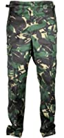 Mens Cargo Combat Army Camouflage Trousers Heavy Duty 6 Pockets With Inside Leg 31.5 Inches
