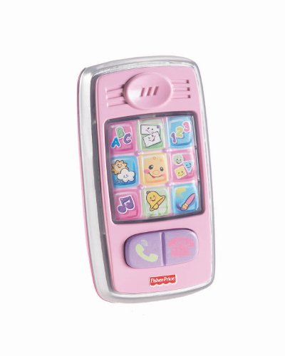Fisher-Price Laugh & Learn Smilin Smart Phone, Pink