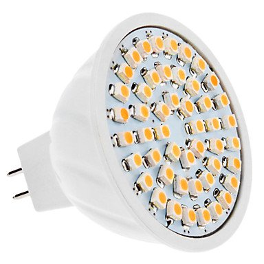 Mr16 3.5W 48X3528 Smd 210-230Lm 3000-3500K Warm White Light Led Spot Bulb (12V)
