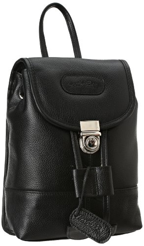 Leatherbay Leather Mini Backpack,Black,one size