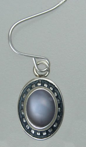 Grey Moonstone Sterling Silver Hook Earrings When You Need Just a Little Bit of Color
