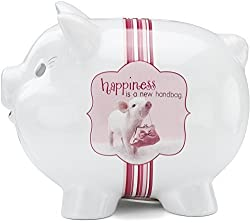 Shaded Pink by H2Z 27030 Handbag Piggy Bank, 4-1/2-Inch