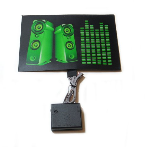 Sound Activated Led Dj Flashing Green Equalizer Eq Speakers Panel With Sensor