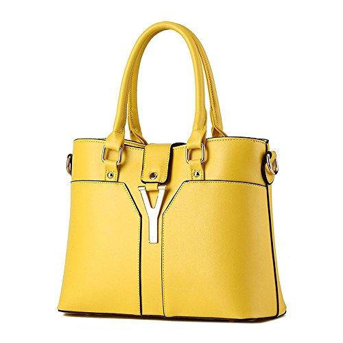Koson-Man-Borsa Vintage da donna, borsetta per impugnatura, giallo (Giallo) - KMUKHB363