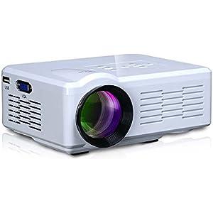 SoldCrazy Mini BL35 Projector 800Lumens USB/SD/VGA/HDMI/AV/Micro USB/TV Input with LCD + LED technology White/