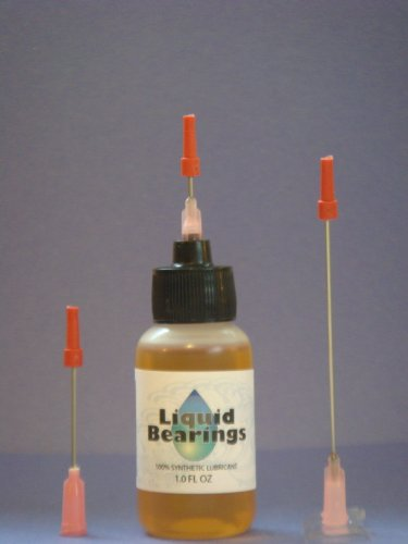 "Best Review Of Liquid Bearings with extra long 3"" needle tip, The TOP QUALITY 100%-synthetic oi..."
