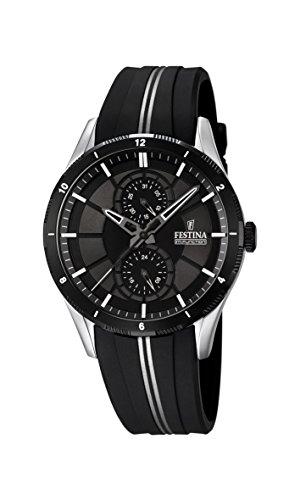 Festina F16841/1 - Reloj de pulsera hombre, Caucho, color Negro
