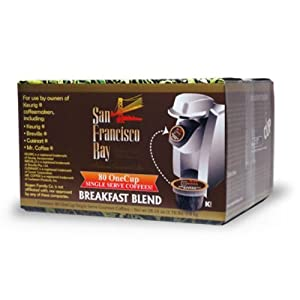 San Francisco Bay Coffee One Cup for Keurig K-Cup Brewers, Breakfast Blend, 80-Count