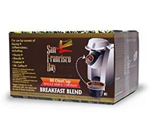 A lot of people who have decided to buy the San Francisco Bay Coffee OneCup for Keurig K-Cup Brewers, Breakfast Blend, 80-Count was very positive