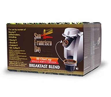 80Ct. San Francisco Bay Coffee OneCup for Keurig K-Cup Brewers (Breakfast Blend) $27.55