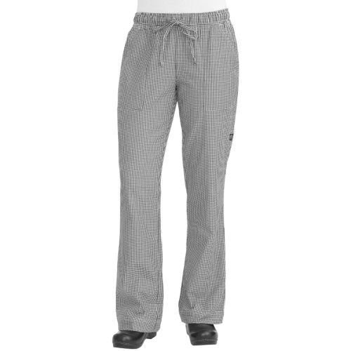 Chef Works WBAW-000 Women's Chef Pants, Black and White Check, Size M