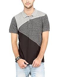 Campus Sutra Men Tri Colour Polo Neck T-Shirt