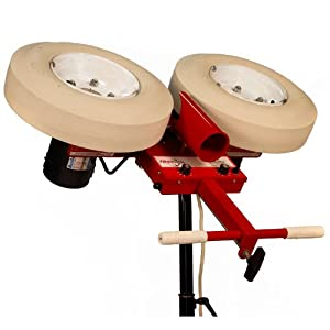 First Pitch Two Wheel Curveball Baseball Softball Pitching Machine Up to 105mph by First Pitch