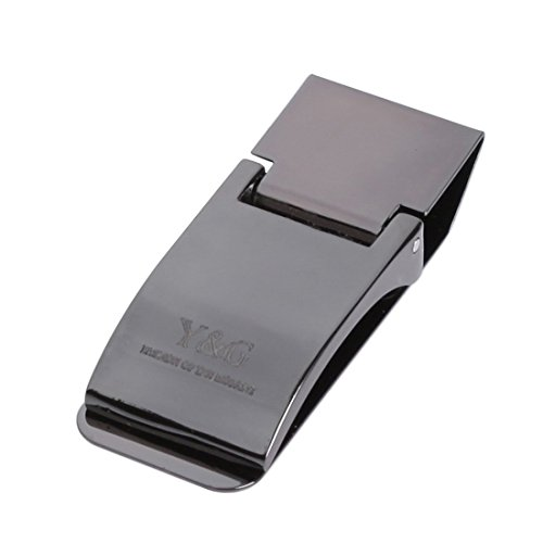 Popular Black stainless streel Money Clips wedding mens Gift MC1019