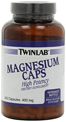 Twinlab Magnesium 400mg Capsules, 240 Count (Pack of 4)