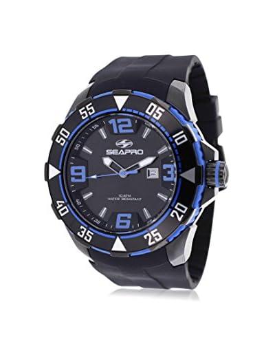 Seapro Men's SP1115 Diver Black Silicone Strap Watch