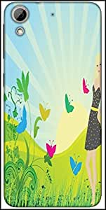 Snoogg Abstract Illustration Designer Protective Back Case Cover For HTC Desire 626