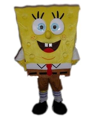 Spongebob Mascot Costume Outfit Suit Fancy Dress