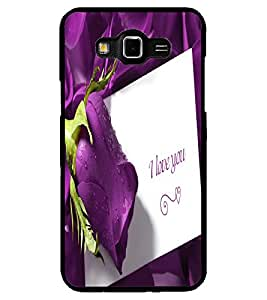 ColourCraft Love Quote with Flower Design Back Case Cover for SAMSUNG GALAXY GRAND MAX G720
