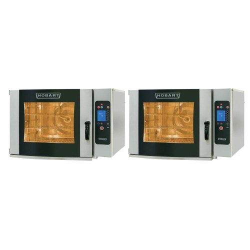 Hobart Ce6Hd-1 / Ce6Hd-1 (2) Electric Half Size Combi Ovens - Stacked