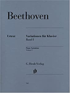 Variations For Piano Vol 1 - Piano - Hn 142 by G. Henle Verlag