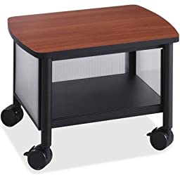 SAFCO PRODUCTS 1862BL Impromptu Under Table Printer Stand, 20-1/2w x 16-1/2d x 14-1/2h, Black/Cherry