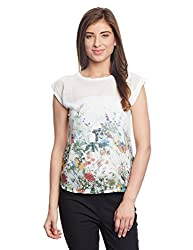 Madame Women's Body Blouse Top (M1511036_Off-White_X-Large)