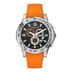 Nautica Herren-Armbanduhr XL Chronograph Quarz Silikon A19601G
