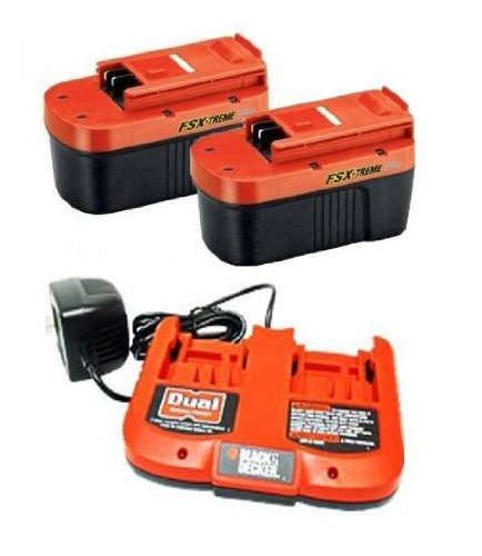 Black & Decker FireStorm 24 Volt FSX-Treme Battery 2-Pack and Dual Charger