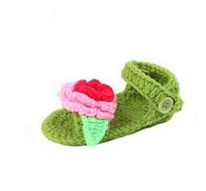 EOZY Princesa Lindos Sueva Con Flor Zapatos Sandaría Bebé De Tela Para Niña
