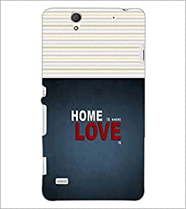 PrintDhaba Quote D-2825 Back Case Cover for SONY XPERIA C4 (Multi-Coloured)