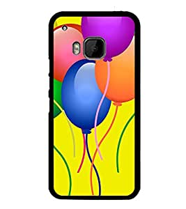 Balloons Clipart 2D Hard Polycarbonate Designer Back Case Cover for HTC One M9 :: HTC One M9S :: HTC M9 :: HTC One Hima