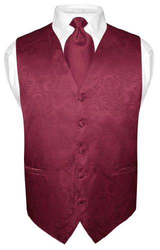 ... Dress Vest NeckTie BURGUNDY Neck Tie Set for Suit or Tuxedo (VP0103) $