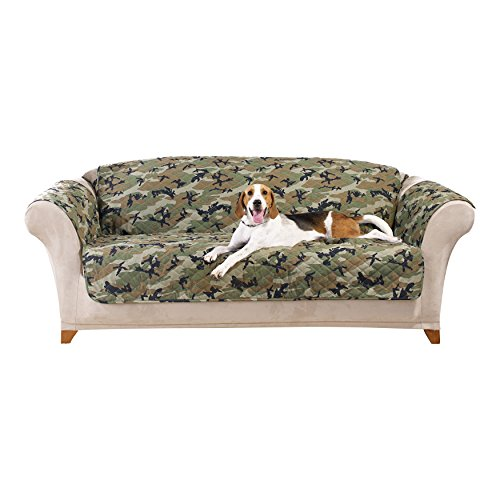 sure fit camouflage pet sofa slipcover green sf43714