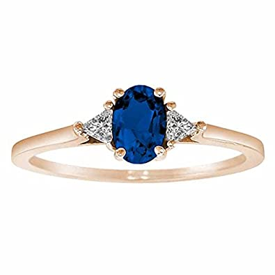 Ryan Jonathan Blue Sapphire and Diamond Ring in 14K White Gold