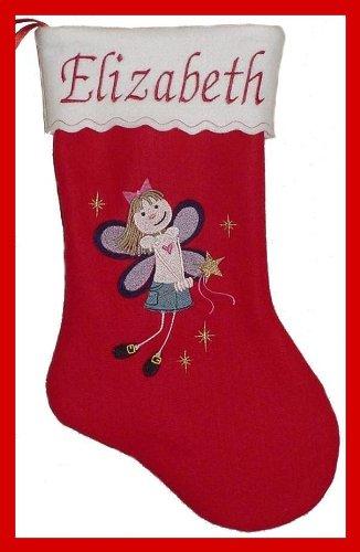 "17"" Personalized Fairy Princess Christmas Stocking"