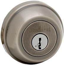 Kwikset 780 Single Cylinder Deadbolt featuring SmartKey® in Antique Nickel