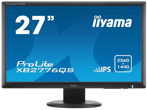 IIYAMA XB2776QS-B1 ProLite XB2776QS (27 inch) LED Backlit LCD Monitor 1000:1 350cd/m2 (2560x1440) 5ms VGA/DVI/HDMI/DisplayPort (Black)