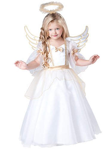 InCharacter Baby Girl's Angel Costume, White, 2T