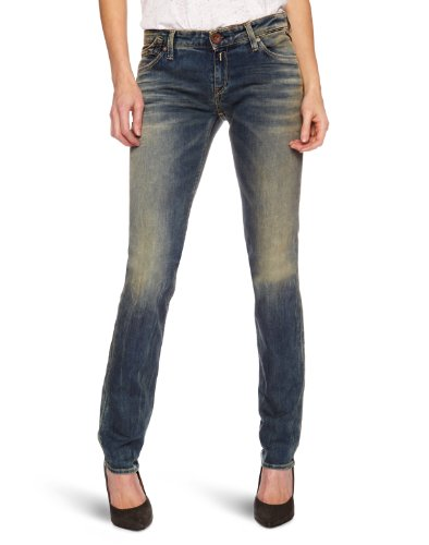 Replay Damen Jeans Niedriger Bund Rockxanne Skinny Fit WX521.000.407113, Gr. 27/30, Blau (blue denim) thumbnail