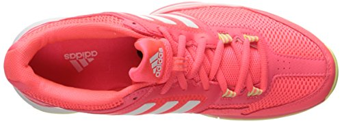 Adidas Performance Women's Barricade Club W Tennis Shoe, Flash Red White/Ice Yellow Fabric, 6.5 M US