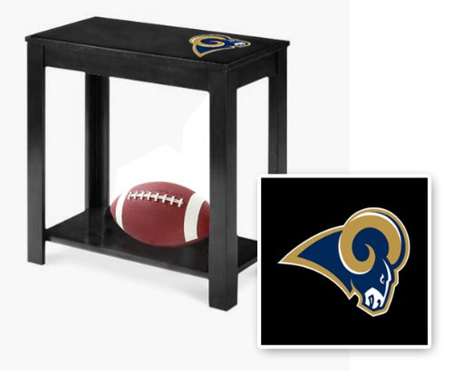 new-black-finish-end-table-featuring-st-louis-rams-nfl-team-logo