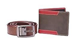 'SPAIROW' Casual Designer Wallet and belt COMBO-5 BLK (W336B0301)
