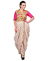 Awesome Fab Beige Color Brasso Fabric Women's Straight Kurti