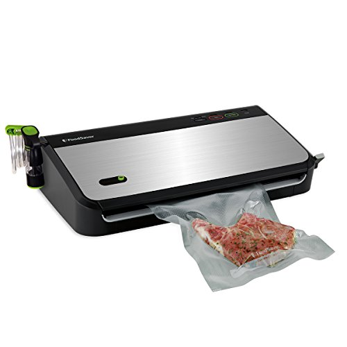 FoodSaver FM2435-ECR Vacuum Sealing System with Bonus Handheld Sealer and Starter Kit, Silver (Handheld Vacuum Sealer Kit compare prices)